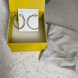 Kendra Scott Hammered Hoop Earrings Silver